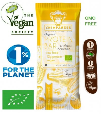 Chimpanzee Protein Bar Golden Banana 45g