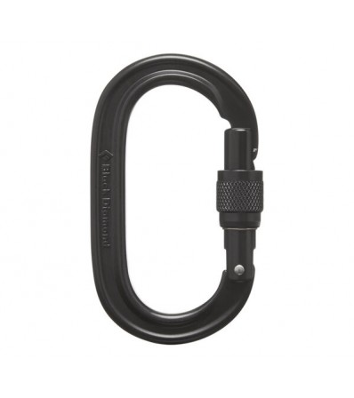 Black Diamond Oval Keylock Screwgate Carabiner Winter 2021