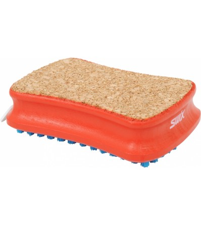 Swix Четка за вакса Rectangular Combi Cork/Nylon Brush