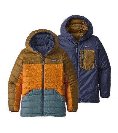 Patagonia Двулицево Яке Boy's Reversible Down Sweater Hoody Winter 2019