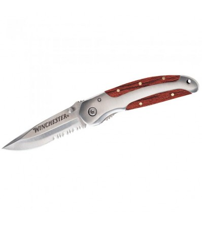 Winchester Wood Folder Serrated Knife