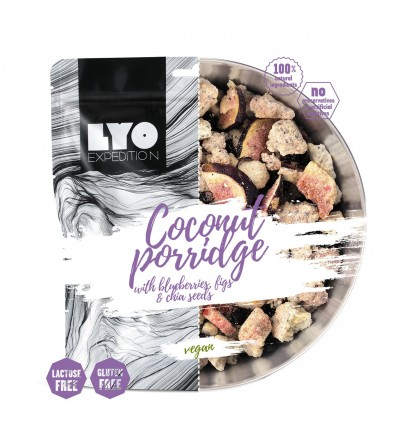 LYO Coconut Porridge with Blueberries, Figs and Chia Seeds 600g