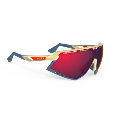 Rudy Слънчеви очила Defender Gold Matte - Multilaser Red Lens Winter 2020