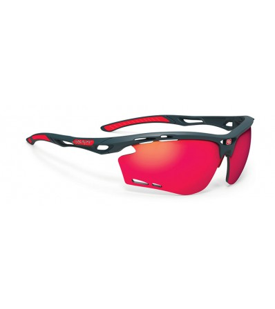 Rudy Sunglasses Propulse Charcoal Matte - Multilaser Red Lens Winter 2021