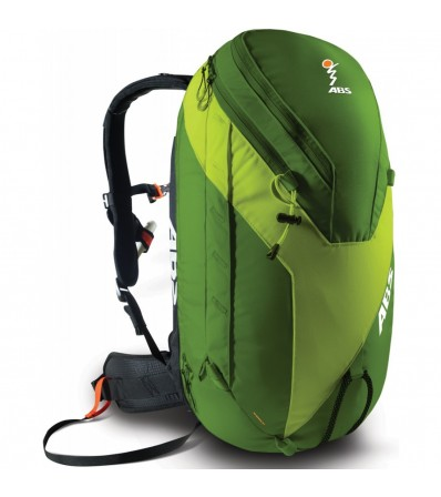 ABS Комплект Гръб Vario Base Unit Black Size S + Раница Vario Zip-On 24L Lime Green
