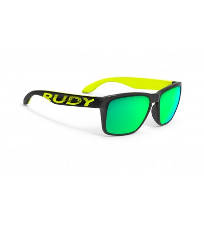 Rudy Слънчеви очила Spinhawk Loud Crystal Ash Big Logo Yellow Fluo - Multilaser Green Lens Winter 2020