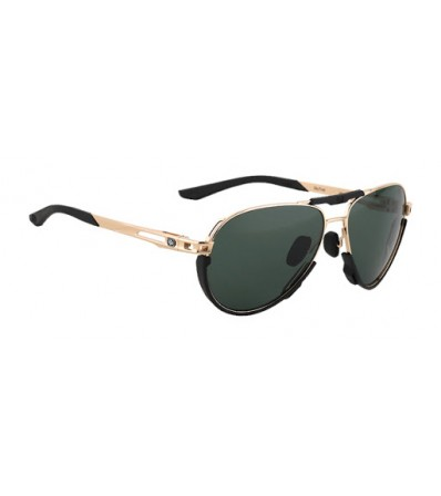 Rudy Sunglasses Skytrail Light Gold Shiny - Green Lens Winter 2021