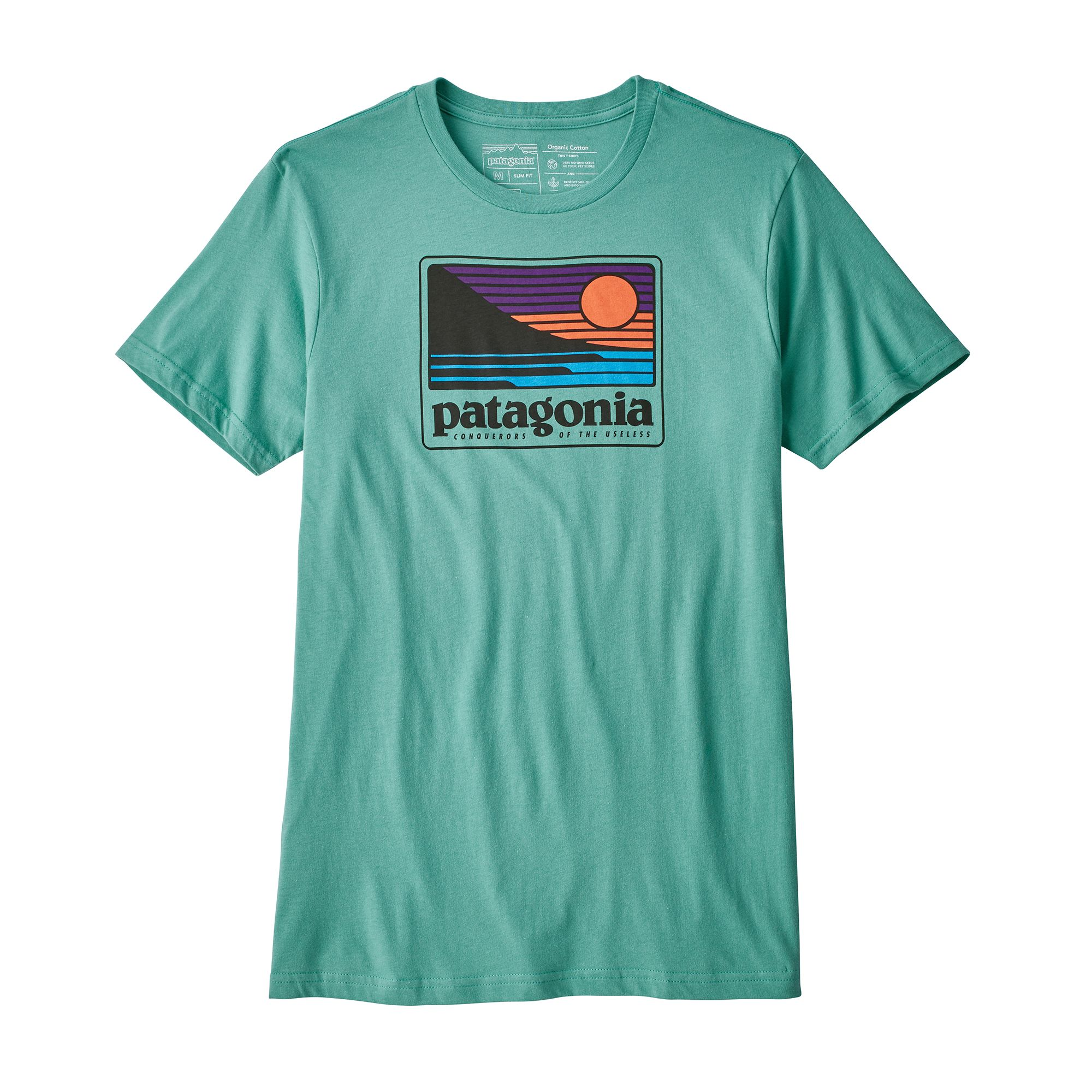 Patagonia m 39 s up out organic cotton t shirt summer 2018 for Natural cotton t shirts